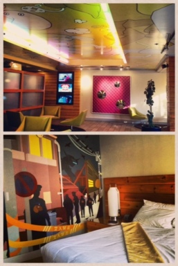 While in San Francisco, I got to stay at Hotel Tomo - an anime inspired hotel filled with random cartoon characters!