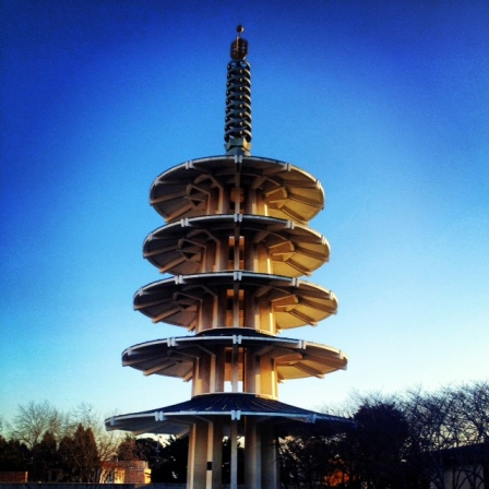 Japan town, San Francisco - not sure what the meaning of the structure is, but the tourists were taking pics, so might as well...